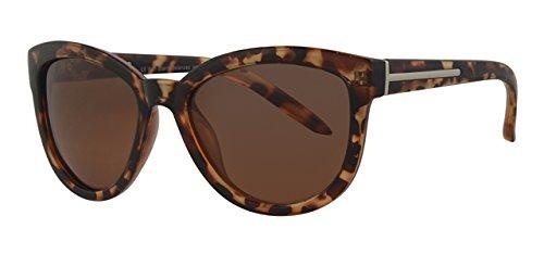 Polarisierte Sonnenbrille, Katzenaugendesign, blendfrei, inklusive Beutel, mit gelber Halskordel, hergestellt in den USA