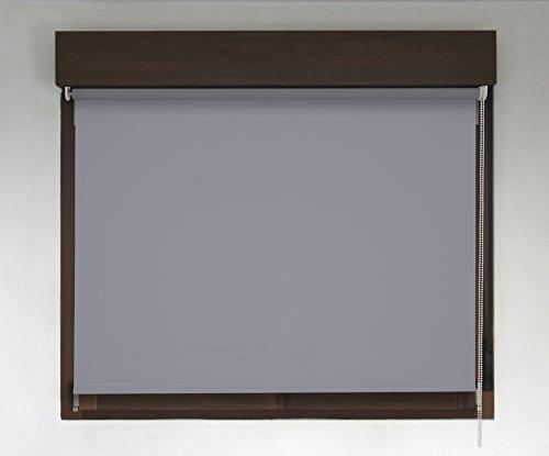 Estor TÉRMICO OPACO PREMIUM (desde 40 hasta 300cm de ancho, no permite paso de la luz y sin visibilidad exterior). Color gris oscuro. Medida 134cm x 160cm para ventanas y puertas