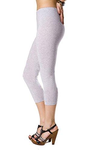 FUTURO FASHION® Cropped Cotton Leggings Classic 3/4 Pants High Quality Summer Colours! Test