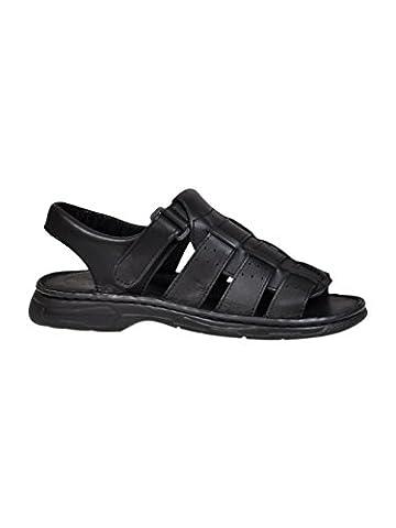 Chaussures Pour Homme Confortable En Cuir Naturel De Bison Sandales
