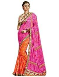 Mantra Fashions Women's Georgette Saree (Mant01_Multi)