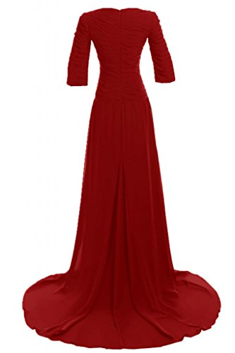 Sunvary semplice Mother of the Bride, a maniche lunghe, per abiti da sera Red