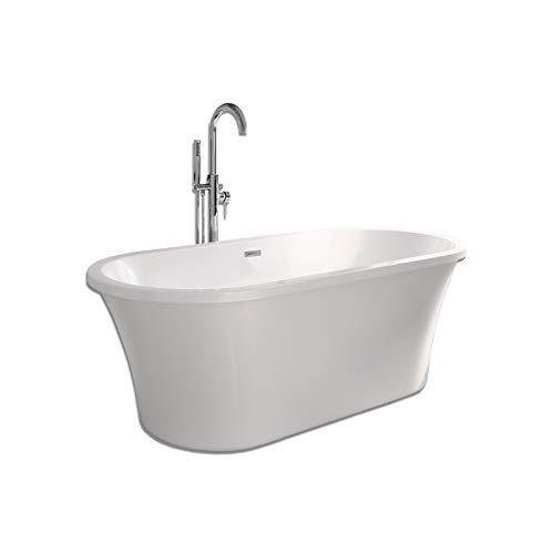 Home Deluxe - Freistehende Badewanne - Carlee - Maße: ca. 170 x 80 x 62 cm - Füllmenge: