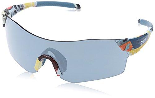 Smith Unisex-Erwachsene Pivlock Arena/N Xb 6Qs 99 Sonnenbrille, Schwarz (Blpetr Blflw/SIL Grey Speckled Cp)