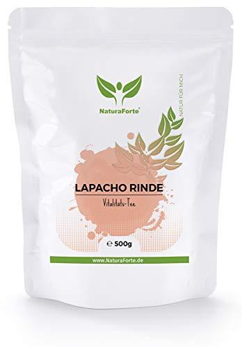 NaturaForte Lapacho Rinden-Tee 500g, Baumrinden-Tee, Reine innere rote Rinde, Premiumqualität aus Brasilien, Angenehm milder Geschmack, Ganz ohne Zusätze aus kontrolliertem Anbau