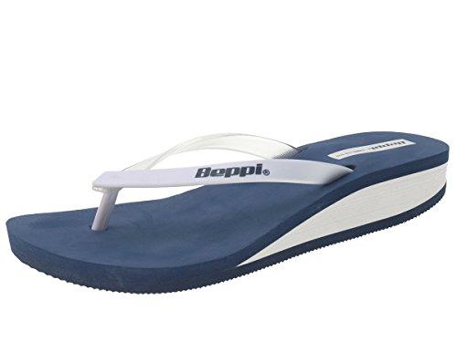 Beppi 212180 Femmes sandale de bain tongs bleu/blanc