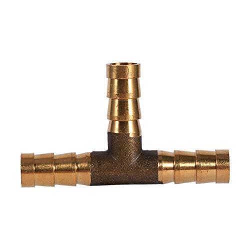 Keenso Stutzen mit Widerhaken 3-Wege-T-Stück Braune Joiner-Schlauch Joiner-Adapter für Kraftstoff-Luft-Wasser-Gasöl(8mm)