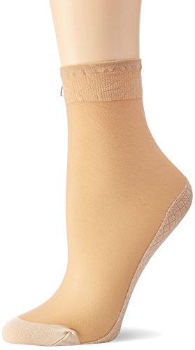 Nur Die Damen Söckchen Baumwollsohle Socken, 20 DEN, Braun (Mandel 116), 39/42