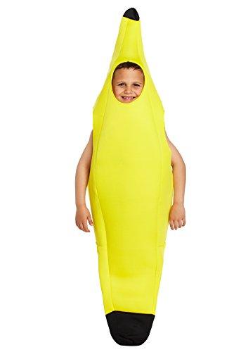 guba® Bananen-Frucht-Kostüm für Jungen und Mädchen, tolle Frucht-Kostüme, 4–12Jahre