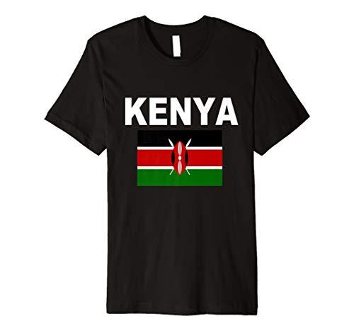 Flagge Bendera Ya Kenia T-Shirt Kenianische Flagge Unisex Top Tee - Kenia Flagge T-shirt