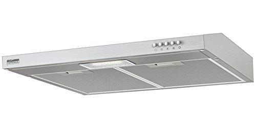 Unterbauhaube / Dunstabzugshaube JESSICA Slim 600 Inox / Edelstahl 60 cm, Abluft / Umluft Betrieb, max. Abluftleistung bis zu 350 m³/h