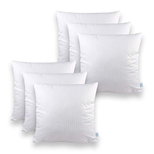Sleeb coussin intérieur 45x45 cm 6 pièce fermeture éclair lavable blanc oreiller garnissage