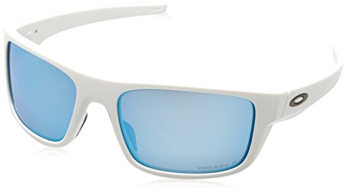OAKLEY Herren Sonnenbrille Drop Point 936714, Weiß (Polished White/Prizmdeepwaterpolarized), 61
