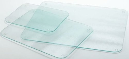 Completely Clear & Flat Float Glass Worktop Saver - 40 x 30cm by Cutting Edge Cookware