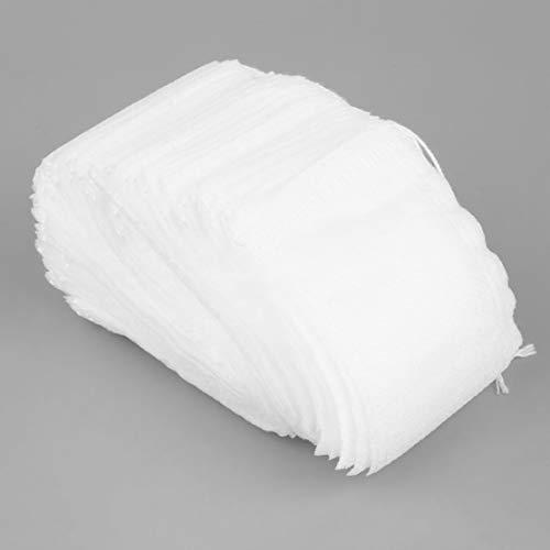 LouiseEvel215 100 unids/lote Bolsas de té vacías Cadena de sellado térmico Papel de filtro Hierba Bolsas de té sueltas Bolsas de té para EL hogar y las necesidades de viaje