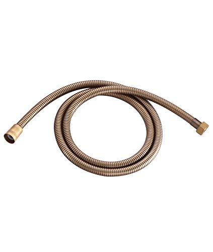 Sccot Tubo Doccia, 1.5m Flessibile Doccia Anti Torsione Tubo antipiega e a prova di perdite Bagno Doccia Tubo Bronzo antico per accessori da bagno Tubo per acqua
