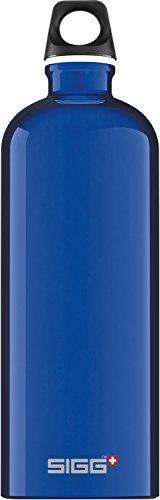 SIGG Traveller Dark Blue, Trinkflasche, 1 L, BPA Frei, Aluminium, Blau