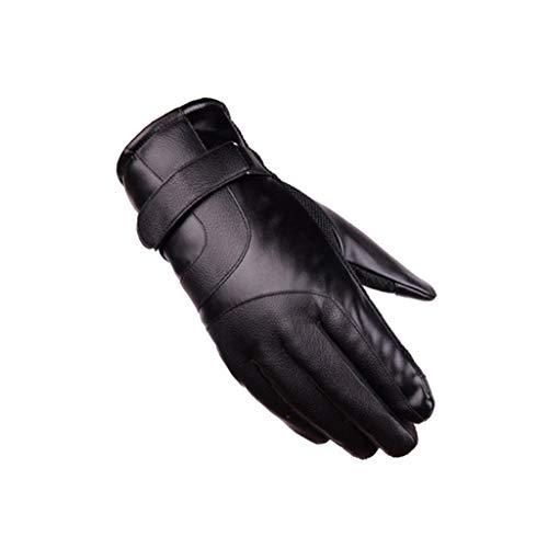 JXL Anti-Rutsch-Touchscreen-Handschuhe Radfahren Warme Verdickung Plus SAMT Winddicht Kalten Anti-Rutsch-Motorrad Ski Handschuhe Männer,Black