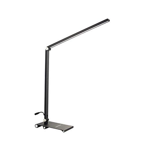 [Ofertas] HAMSWAN Flexo Escritorio Lámpara Escritorio Plegable LED Lámpara para Lectura 3 Niveles de Iluminación(Cuidado Especial a los Ojos) y 3 Modos de Potencia Hasta 8W Producto Ecológico Bajo Consumo Control de Táctil