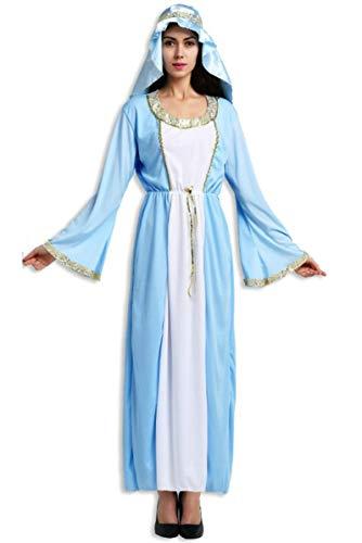 Lovelegis One Size - Jungfrau Maria Kostüm - Madonna für Frauenmädchen - Erwachsene - Halloween Carnival Disguise Dress - - Junge Madonna Kostüm
