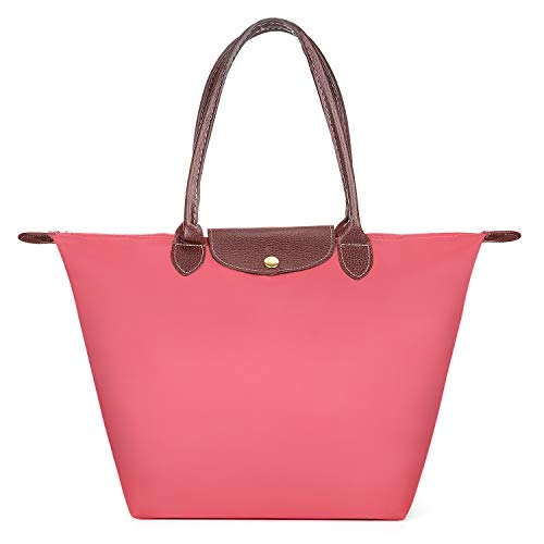 Longchamp Nylon Tote (Meersee Shopper Tasche, Wasserdichtes Nylon Shopper Schultertasche Umhängetasche Damen Handtasche Tote Tasche)