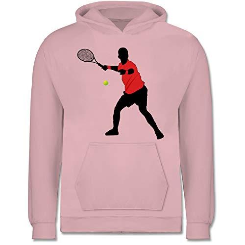 Sport Kind - Tennis Vorhand - 9-11 Jahre (140) - Hellrosa - JH001K - Kinder Hoodie