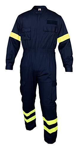 Tuta da Lavoro in Poliestere E Cotone Blu Vigili del Fuoco Volontari (XL)