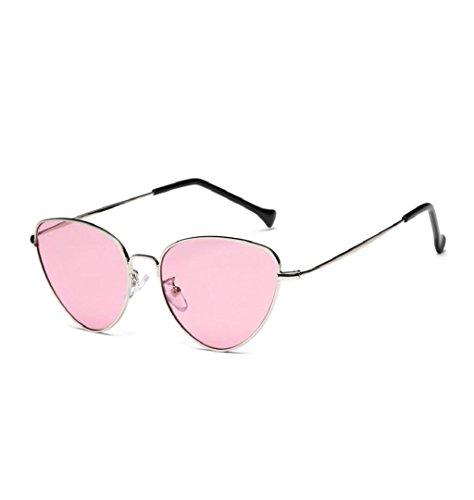 Travel Sonnenbrille, ZEZKT Unisex-Sommer Weinlese Retro Katzen Augen Gläser (Rosa) (Rosa Sonnenbrille)