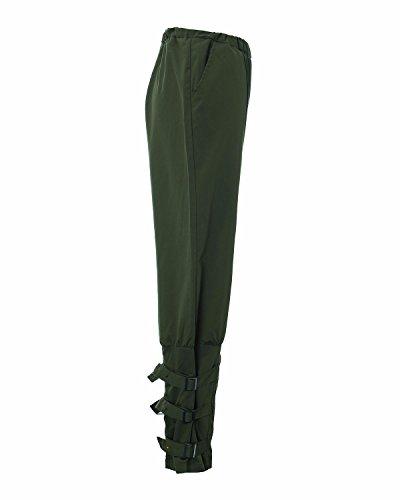 StyleDome Pantaloni Lunghi Casuali Eleganti Ufficio Sport Jogging Cotone per Donna Verde Militare
