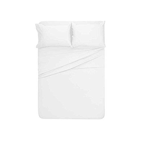 Meisijia 4 Stück Bettlaken Set Solid Color Pillowcase Bettlaken Toal Bettdecke Kit Startseite Bettwäsche -