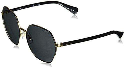 Ray-Ban Damen 0RA4124 Sonnenbrille, Schwarz (Shiny Gold with Black), 60