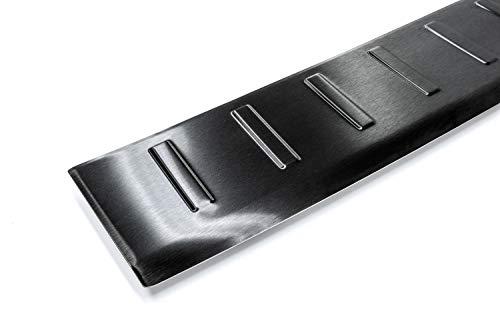 Tuning-Art L305 Edelstahl Schwarz Ladekantenschutz mit Abkantung fahrzeugspezifische Passform