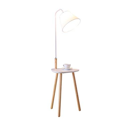 DFHHG® Nordic Stehleuchte, Wohnzimmer minimalistischen modernen kreativen Couchtisch Licht Schlafzimmer Massivholz Tischlampe amerikanischen Stehlampe ( Farbe : Weiß )