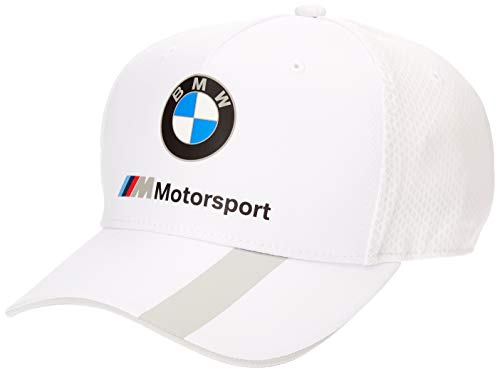 BMW MOTORSPORT Herren Stripe White Baseball Cap, Weiß (Herstellergröße: One Size)