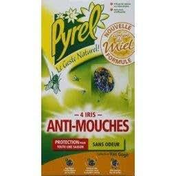 Pyrel stickers anti mouches au miel pour vitres iris de for Anti mouches maison