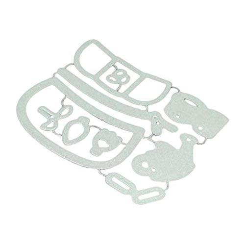 ZZbaixinglongan Ausstechformen Einhorn Bär Prägung Schablone Schablone Schablone für DIY Scrapbook Fotoalbum Prägung Basteln Dekoration Papier Karten Machen für Zuhause Dekoration Garden Bear - Bear Garden