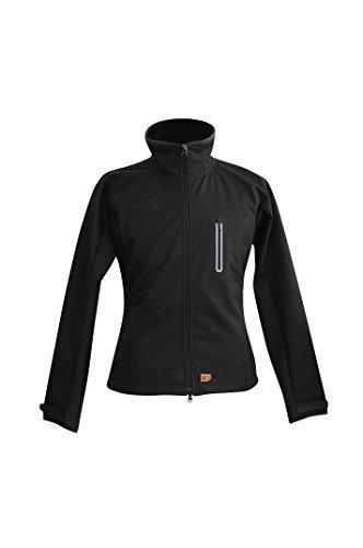 Beheizbare Softshell Jacke für Frauen (Schwarz, S)