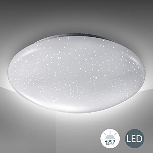LED Deckenlampe inkl. 12W 1200lm LED Platine, Sternenlicht, Deckenleuchte 4000K neutralweiß, 230V, IP20, Ø 290mm