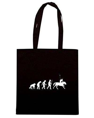 T-Shirtshock - Borsa Shopping EVO0038 Horse Racing Evolution Humor Maglietta Nero