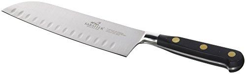 Lion Sabatier 714780 Idéal Couteau Japonais Santoku Alvéolé 18 cm