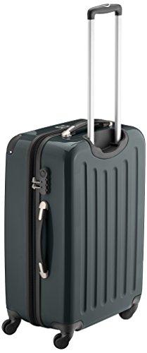 HAUPTSTADTKOFFER - Alex - 3er Koffer-Set Trolley-Set Rollkoffer Reisekoffer Erweiterbar, 4 Rollen, (S, M & L), Titan Waldgrün