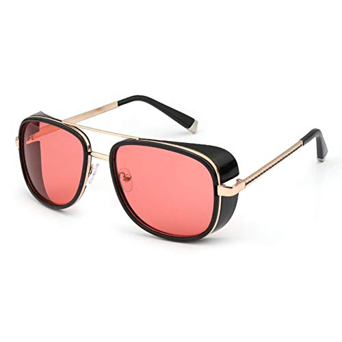 RosewineC Men Women Sunglasses Iron Man Tony Driving Sunglasses Frog Mirror Glasses Luxury Brand Vintage Ironman Eyewear Mirror(9)