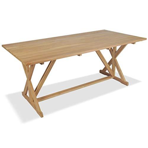 vidaXL Teck Massif Table de Salle à Manger d'Extérieur Jardin Terrasse Maison