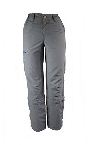 CRIVIT OUTDOOR Jungen Trekkinghose Zip Off Anthrazit/Blau 158/164 (Jungen Streifen-thermische)