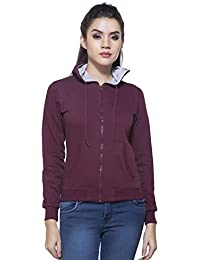 Maniac Women's Fullsleeves Hooded Sweatshirt