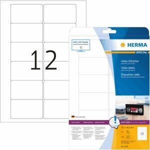 HERMA Video-Etiketten (Front) weiß 78,7x46,6mm Special A4