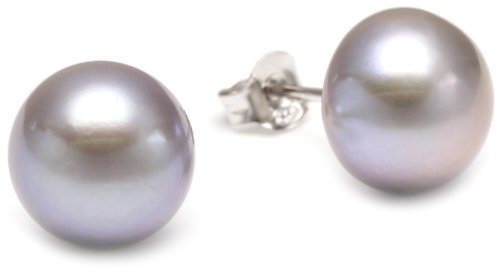 Sakura Pearl AM 153 - Orecchini a lobo da donna, argento sterling 925