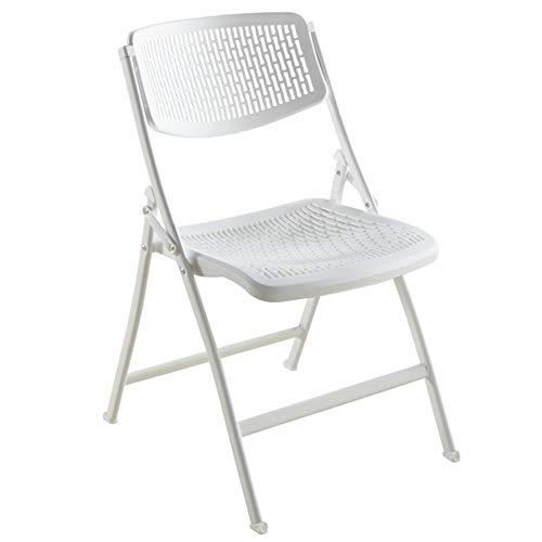 W&L Klappstuhl, tragbare gepolsterte Rückenlehne, Moderne Outdoor-Casual für Erwachsene,White - High-end-outdoor-möbel