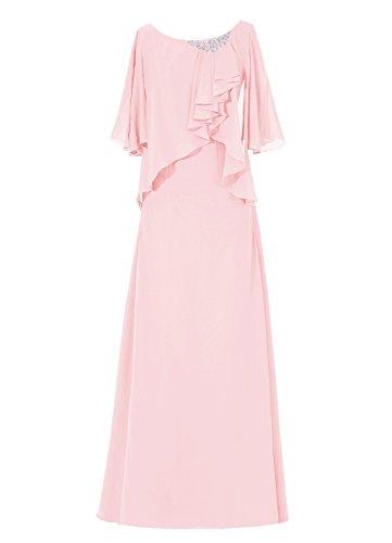 Dresstells, robe longue de mère de mariée, robe de cérémonie, robe de demoiselle d'honneur Rose