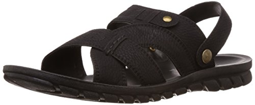 FLS (By Franco Leone) Men's Black Flip Flops Thong Sandals - 7.5 UK/41 EU  available at amazon for Rs.404